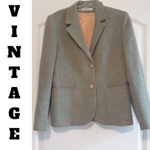 VTG greenish gray with orange lining blazer size S